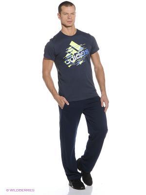 Брюки Ess Pant Oh Ft Adidas. Цвет: темно-синий