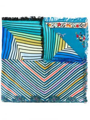 Полосатый шарф с рисунками Pierre-Louis Mascia. Цвет: многоцветный