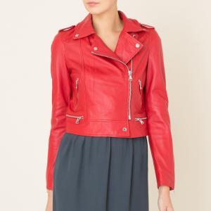 Блузон кожаный укороченный YOKO OAKWOOD. Цвет: красный,черный