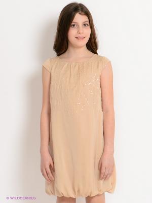 Платье Viaggio bambini. Цвет: светло-бежевый