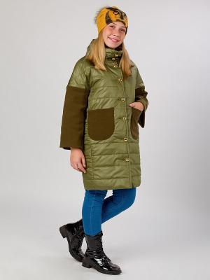 Стеганое пальто MARIELA. Цвет: оливковый