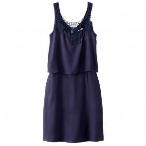 Платье без рукавов с эффектом 2 в 1 MOLLY BRACKEN. Цвет: темно-синий,экрю
