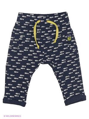 Спортивные брюки Wojcik. Цвет: темно-синий, светло-серый, желтый