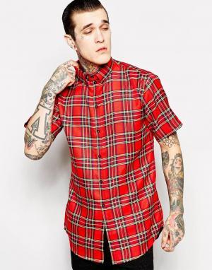 Thomas Codd London Длинная рубашка с принтом тартан