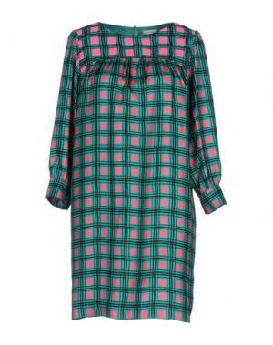 Короткое платье MANOUSH. Цвет: зеленый