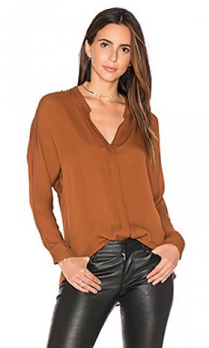 Блуза с двойной полосой Vince. Цвет: коричневый