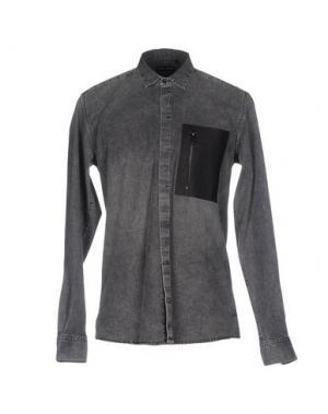 Джинсовая рубашка ANTONY MORATO. Цвет: серый