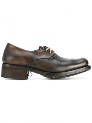 Туфли на шнуровке Cherevichkiotvichki. Цвет: коричневый