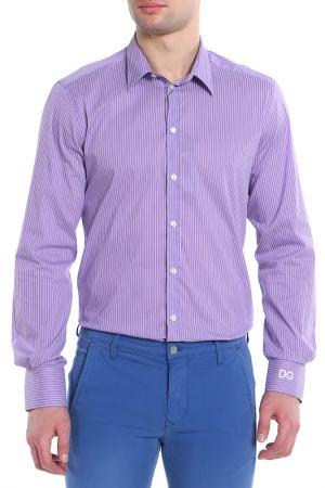 Рубашка Dolce&Gabbana. Цвет: фиолетовый,белый