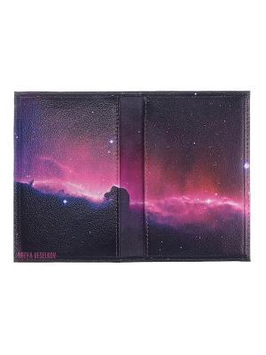 Обложка для паспорта Mitya Veselkov. Цвет: темно-фиолетовый, фиолетовый, розовый