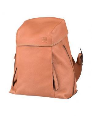 Рюкзаки и сумки на пояс LOEWE. Цвет: верблюжий