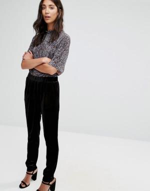 B.Young Черные бархатные брюки-галифе. Цвет: черный