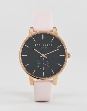 Ted Baker Часы с розовым кожаным ремешком Olivia. Цвет: розовый