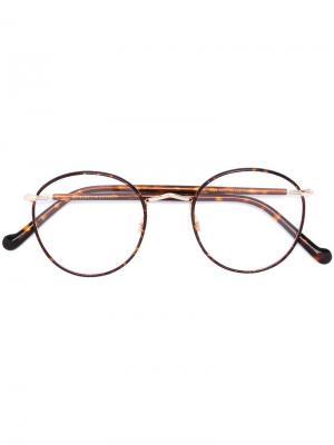 Очки Zev Moscot. Цвет: коричневый