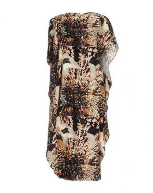 Короткое платье ZERO + MARIA CORNEJO. Цвет: бежевый