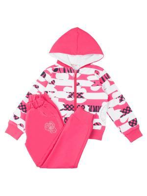 Спортивный костюм для девочки 7 одежек. Цвет: малиновый