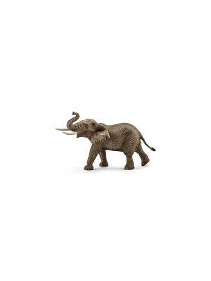 Африканский слон, самец SCHLEICH. Цвет: серо-коричневый