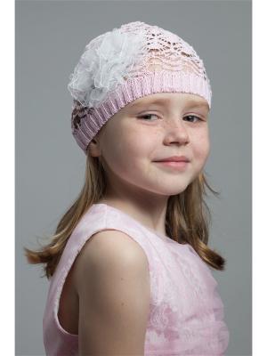 Шапка NELL. Цвет: бледно-розовый