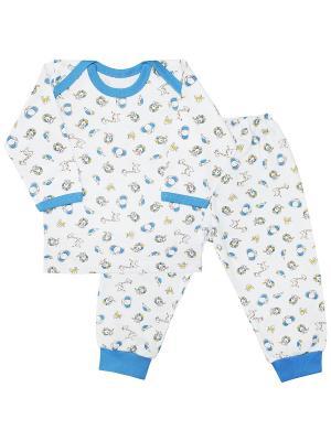 Пижама Веселый малыш. Цвет: голубой, желтый, белый