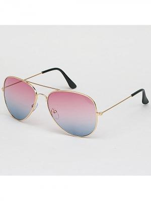 Очки Aviator Mirror (розово-голубые) Kawaii Factory. Цвет: голубой, розовый