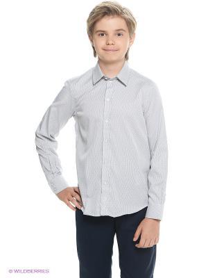 Рубашка Button Blue. Цвет: светло-серый