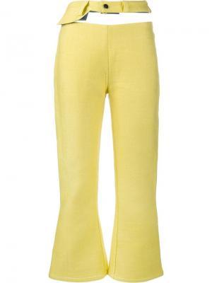 Укороченные джинсы с вырезами Faustine Steinmetz. Цвет: жёлтый и оранжевый