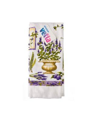 Фиолет Полотенце 38х63см, ТС Vetta. Цвет: белый