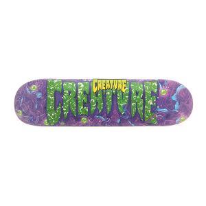Дека для скейтборда  S6 Logo Lg Detox 32 x 8.375 (21.3 см) Creature. Цвет: фиолетовый,зеленый