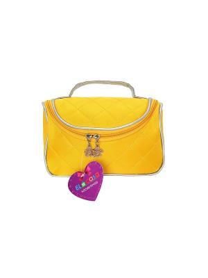 Косметичка - сумочка Желтая EL CASA. Цвет: желтый