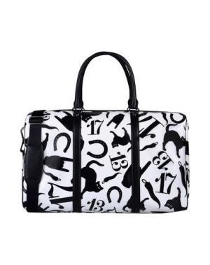 Дорожная сумка MOSCHINO. Цвет: белый