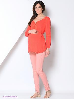 Блуза EUROMAMA. Цвет: коралловый