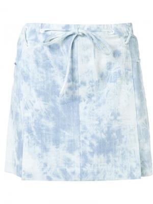 Джинсовая мини-юбка Thakoon. Цвет: синий