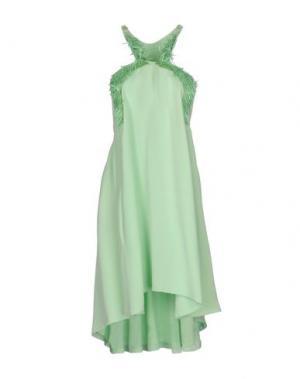 Короткое платье MARIA LUCIA HOHAN. Цвет: светло-зеленый