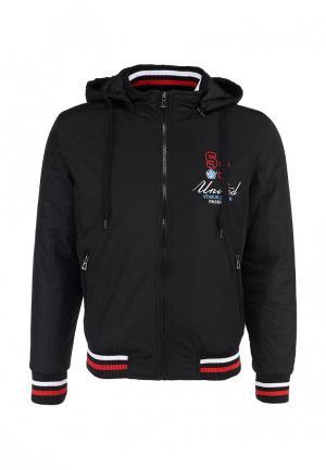 Куртка утепленная S&J. Цвет: черный