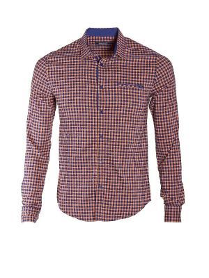 Рубашка Dairos. Цвет: черный, оранжевый
