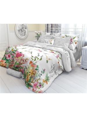 Комплект постельного белья 1,5-сп, VEROSSA, наволочки 50*70 см, Redberries Verossa. Цвет: серый, белый, красный