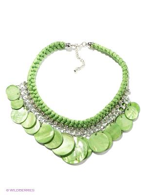 Колье Infiniti. Цвет: зеленый, серебристый