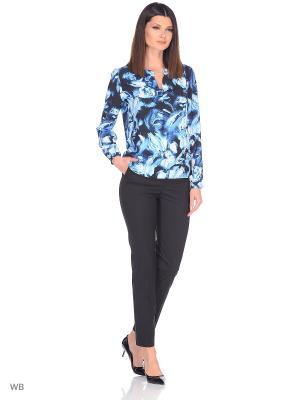 Блузка Be cara. Цвет: темно-синий, голубой