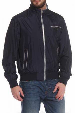 Свободная куртка с застежкой на молнию Cortigiani. Цвет: темно-синий