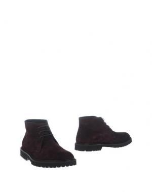 Полусапоги и высокие ботинки BOEMOS. Цвет: баклажанный