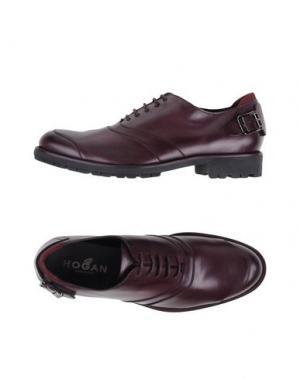 Обувь на шнурках HOGAN. Цвет: баклажанный