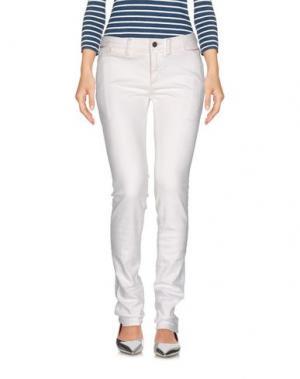 Джинсовые брюки McQ Alexander McQueen. Цвет: белый