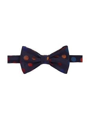 Галстук бабочка Random Dots Sloe Duchamp. Цвет: темно-синий, красный, оранжевый, синий