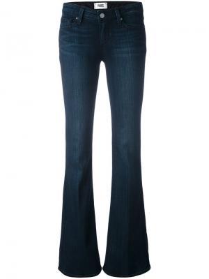 Расклешенные джинсы Paige. Цвет: синий