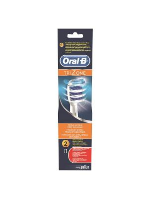 Сменные насадки ORAL-B Trizone 2 шт для электрических зубных щеток ORAL_B. Цвет: белый