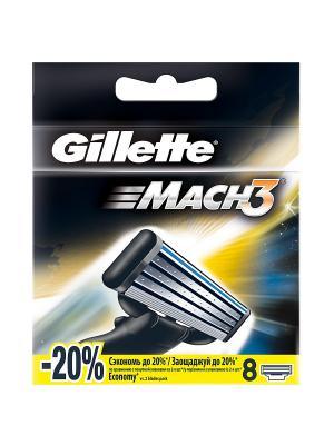 Сменные кассеты Mach3 , 8 шт GILLETTE. Цвет: черный