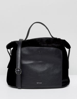 Matt & nat Бархатная сумка-тоут Bava. Цвет: черный