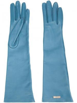 Длинные перчатки Dsquared2. Цвет: синий