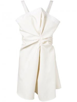 Мини платье с объемной сборкой спереди Jacquemus. Цвет: телесный