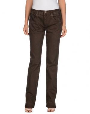 Повседневные брюки CARLO CHIONNA. Цвет: какао